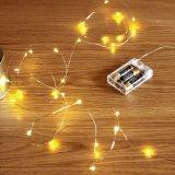 2m 20LEDs kupferne batteriebetriebene sternenklare feenhafte Zeichenkette-Lichter des Draht-3AA für Weihnachtsneues Jahr