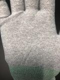 Эср антистатической PU вручную установите работы перчатки техники безопасности для подрядчиков