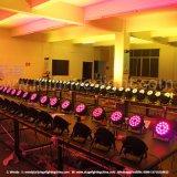 Indicatore luminoso della fase di PARITÀ di prezzi bassi 54X3w RGBW LED con DMX512 per l'evento dell'interno di uso, illuminazione della fase della discoteca