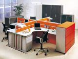 Poste de travail moderne de bureau de 4 portées avec le bureau d'ordinateur de partition en verre (OD-26)