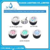 316 luces subacuáticas ahuecadas al aire libre inoxidables de la piscina de la lámpara LED del acero 36W RGB