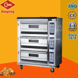 販売のための専門のパン屋装置の3デッキの6皿の電気オーブン