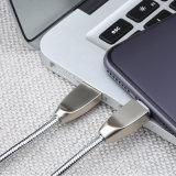 Wholesales Conector de acero inoxidable de aleación de zinc fuerte cable de carga USB