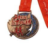 De in reliëf gemaakte Goedkope Medaille van het Metaal van de Sporten van de Douane Lopende