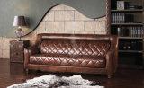 2017 جيّدة يبيع فكتوريا خصّل زرّ كلاسيكيّة جلد أريكة مجموعة