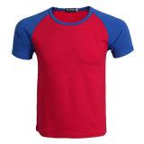 Les hommes de coton à manches courtes Raglan jersey simple T-shirt col O