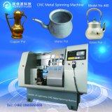 Haciendo la Olla de Cobre utilizado Mini CNC Máquinas herramientas de Metal Spinning ligero (480C-9)