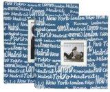 300의 사진, 가정 훈장을 붙드는 인쇄된 서류상 표지 사진 앨범
