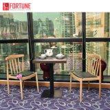 De hoge Stoel van het Leer van de Winkel van de Koffie van het Restaurant van het Eind Houten (foh-0780)