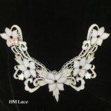 шнурок Neckline 34*25cm розовый шикарный с с утеской Hme928 ворота шнурка 5 цветков