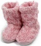 La tela suave de la felpa del picovoltio del paño grueso y suave para el deslizador de casa anuda los zapatos