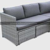 Sofà esterno di alluminio poco costoso della mobilia del giardino di fabbricazione all'ingrosso della Cina impostato come sezione d'angolo