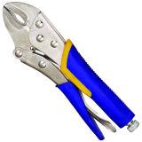 C-soldador pinza pinza de agarre de bloqueo de la Mordaza curva Plierlong alicate mandíbula