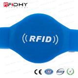 作業の許可のための高周波F08チップRFID PVCリスト・ストラップ