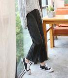 Pantalon grand tricoté de patte de l'hiver pour des filles et des dames, culotte de dixièmes