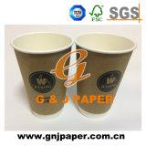 22oz de papel desechables de doble pared caliente taza de té y café.