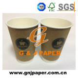 doppel-wandige heiße Wegwerfpapierkaffeetasse des Tee-22oz/