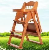 Foldable 디자인을%s 가진 나무로 되는 아기 어린이 식사용 의자