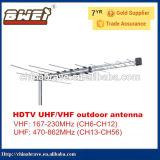 Antena de TV logarítmica-32 o elemento com frequência VHF e UHF