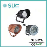 Foco LED 9W con color negro o plata