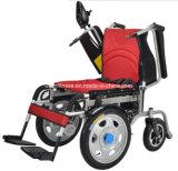 電動機を搭載する4つの車輪の車椅子
