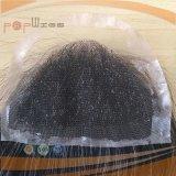 사람의 모발 가득 차있는 손에 의하여 묶이는 레이스 기초 Hairpiece (PPG-L-0152)