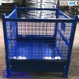 Faltbarer Stahlmaschendraht-Vorratsbehälter für industrielles Lager