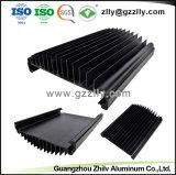 6063 aluminium extrudé anodisé personnalisé LED PROFIL AVEC LA NORME ISO9001