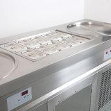 Rodada dupla Frigideiras Máquina de Gelados fritos com 10 baldes