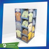 En forma de árbol de Navidad Pantalla de cartón de papel de paletas