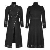 Пальто зимы черноты людей военной формы Y-766 Наполеон готские длинние