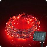 태양 Pwer & 센서 LED 구리 철사 끈 빛