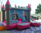 Горячие продажи дешевой Рождество детский крытый замороженные надувной замок локоны