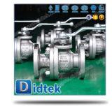 Robinet à tournant sphérique posé par métal d'acier inoxydable de Didtek CF8m