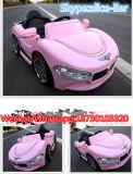 Passeio do bebê do carro elétrico das crianças do motor da cor-de-rosa dois no carro