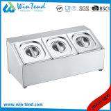 Doppia riga quattro vaschetta profonda dell'acciaio inossidabile della GN Gastronorm di griglie con il supporto del coperchio per buffet