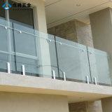 バルコニーのためのFrameless 8-12mmの緩和されたガラスの塀の栓