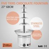"""Fontana commerciale 27 """" 68cm del cioccolato di cerimonia nuziale del cioccolato del grande delle 5 file hotel romantico del partito"""