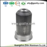 Ronda de fábrica do radiador de alumínio anodizado para LED de luz para baixo