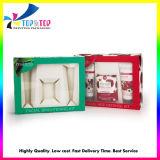 hecho personalizado Luxry elegante caja de papel de regalo de Navidad