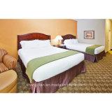 호텔 침실 가구 최신 2인용 침대를 새기는 나무는 디자인한다 호텔 (KF TF 0011)를 위한 가구를