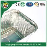 De grado alimentario y envase contenedor de papel de aluminio con tapa