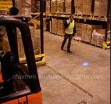 Luz LED de Trabajo 10-80VDC resistente al agua azul de la luz de advertencia de seguridad de la carretilla elevadora