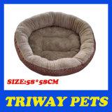 둥근 연약한 Flannel 개 침대 (WY161010)