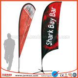 Publicidad al aire libre viento volando Lágrima de promoción de la bandera de la playa