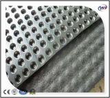 Placa composta verde da drenagem da ondulação do HDPE do geotêxtil não tecido do telhado/porão