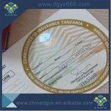 Conception personnalisée effet UV gaufrage du papier aluminium Coupon avec hologramme de ticket