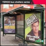 Outdoor Street Furniture Bus Shelter avec Light Box