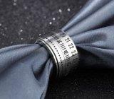 Anel Rotatable do aço inoxidável de número de tâmara do anel do girador dos homens do punk e de numeral romano para o menino