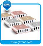 El 5 de sobremesa multifunción USB cargador de metal con cable